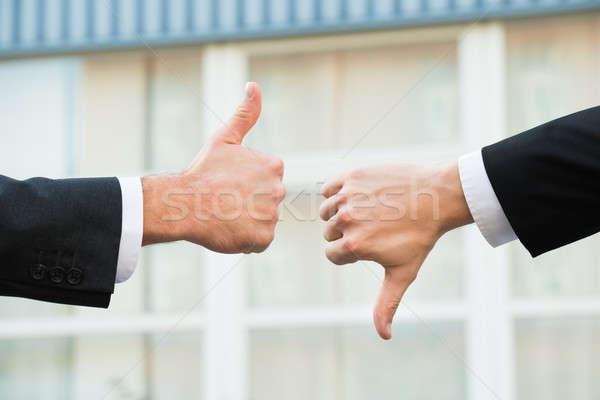 Imprenditori come antipatia segni mani Foto d'archivio © AndreyPopov