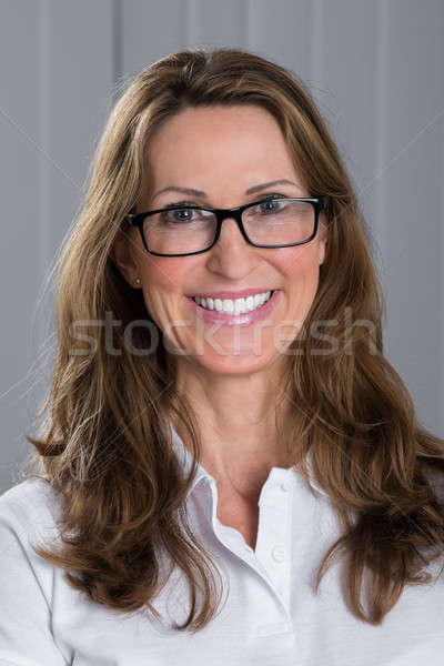 Happy Woman Wearing Spectacles Stock photo © AndreyPopov