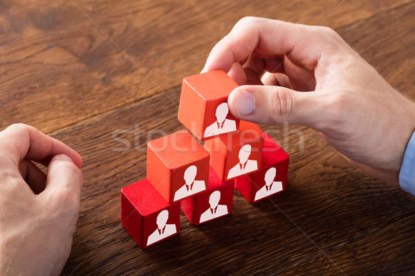 Block Of Team On Wooden Desk Stock photo © AndreyPopov