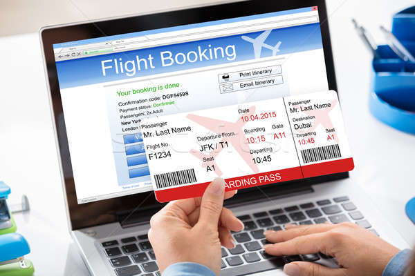 Air Ticket Flight Booking Concept Stock photo © AndreyPopov