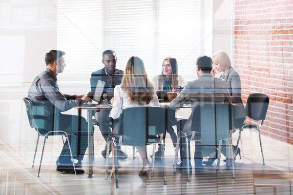 Toplantı grup işyeri ofis Stok fotoğraf © AndreyPopov