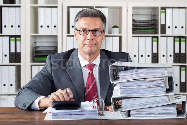 Contador de trabajo oficina retrato maduro negocios Foto stock © AndreyPopov