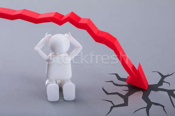 Сток-фото: человека · Рисунок · сидят · красный · стрелка