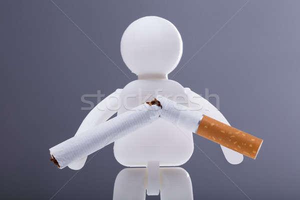 Human Figure With Broken Cigarette Stock photo © AndreyPopov