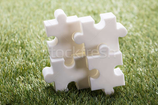 Elevated View Of Four Jigsaw Puzzle Stock photo © AndreyPopov