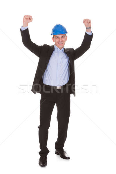 Portrait Of Male Architect With Arms Raised Stock photo © AndreyPopov