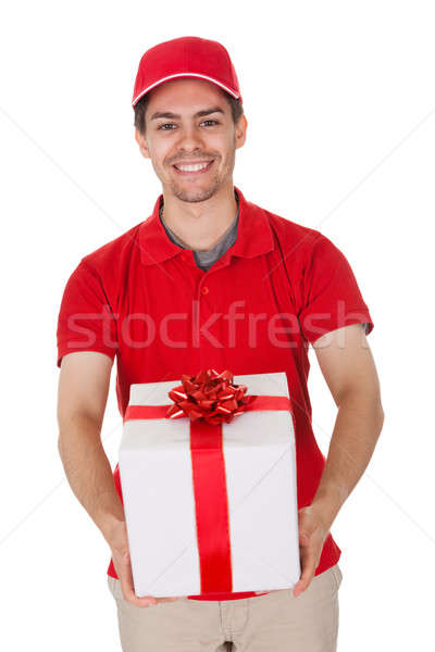 Messenger delivering a decorative gift Stock photo © AndreyPopov