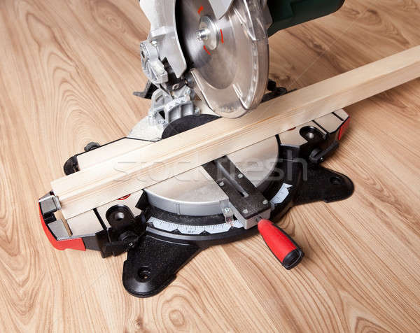 Electrical saw with circular blade Stock photo © AndreyPopov