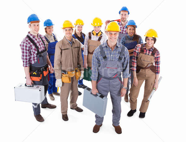 Large team of diverse artisans Stock photo © AndreyPopov