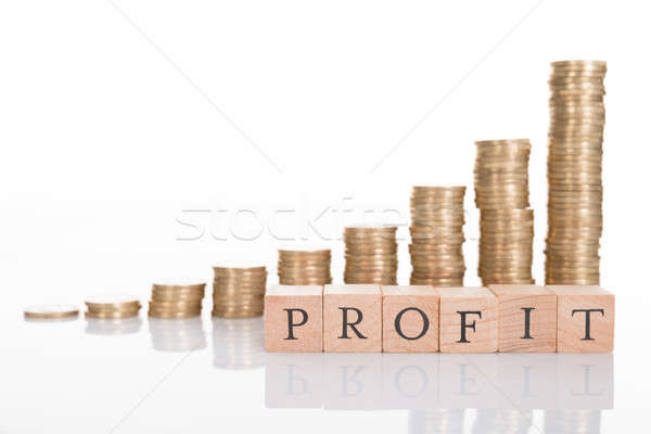 Business groei grafiek geïsoleerd witte Stockfoto © AndreyPopov
