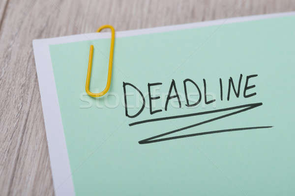 Deadline Written On Green Note Stock photo © AndreyPopov
