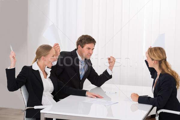 Argument jonge werkplek kantoor Stockfoto © AndreyPopov
