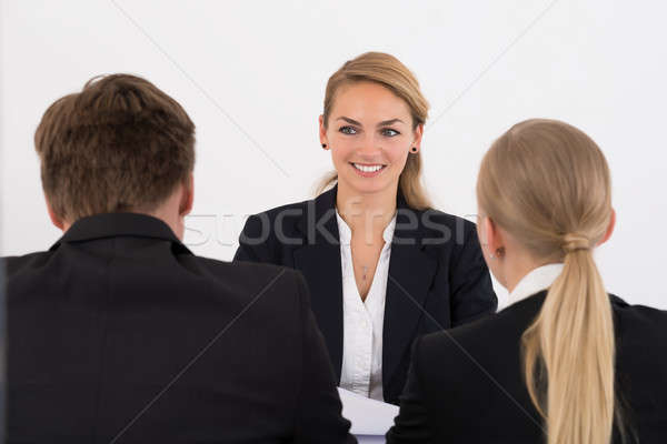 Businesswoman Conducting Interview In Office Stock photo © AndreyPopov