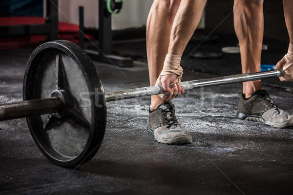 Person Lifting Barbell Stock photo © AndreyPopov