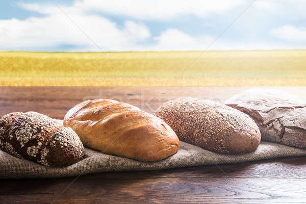 Close-up Of A Variety Of Breads Stock photo © AndreyPopov