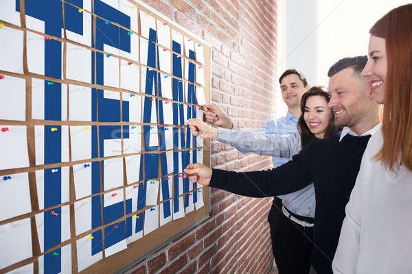 команда текста клей отмечает деловые люди Сток-фото © AndreyPopov