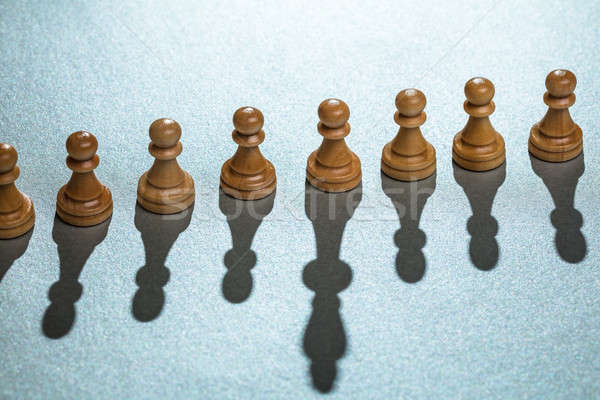 Pawn Chess Pieces With One Having Long Shadow Stock photo © AndreyPopov