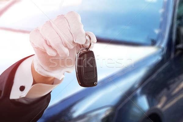 Valet Boy Hand Holding Car Key Stock photo © AndreyPopov