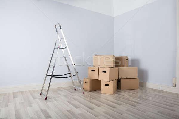 Photo stock: Cases · échelle · maison · mur