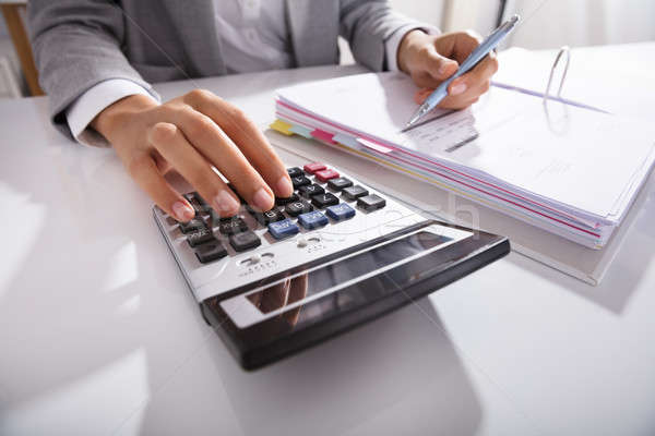служба калькулятор таблице Сток-фото © AndreyPopov