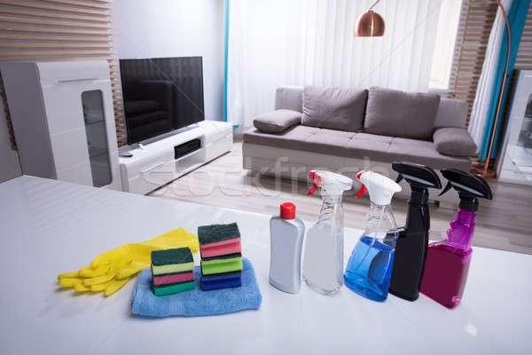различный очистки спрей бутылок белый столе Сток-фото © AndreyPopov