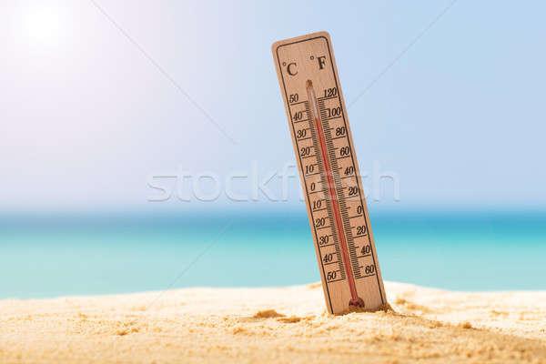 термометра песок высокий температура Сток-фото © AndreyPopov