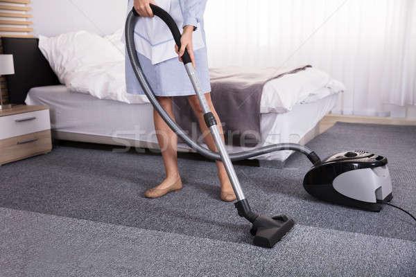 真空掃除機 洗浄 カーペット 低い セクション ストックフォト © AndreyPopov