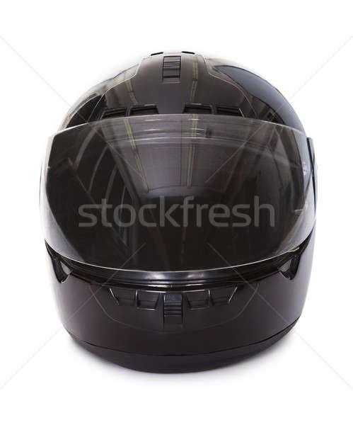 Noir moto casque studio image fermé Photo stock © AndreyPopov