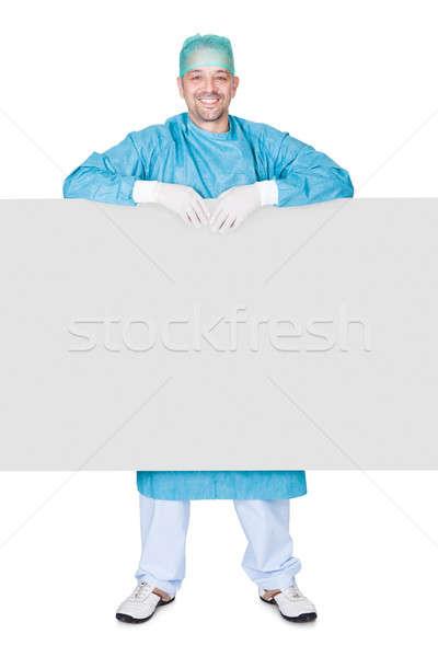 Zdjęcia stock: Lekarza · operacja · suknia · biały