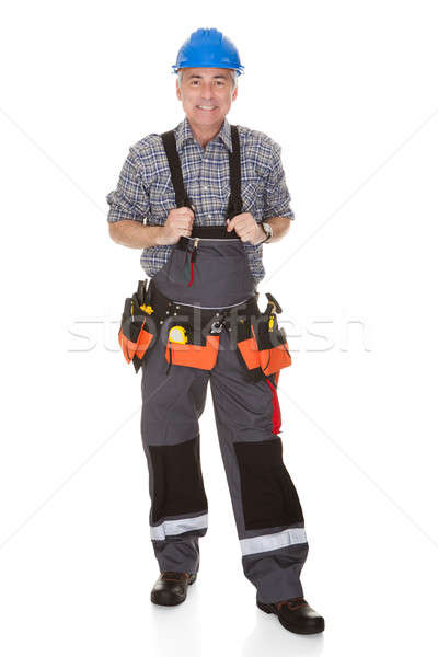 Mature Worker Man With Toolbelt Stock photo © AndreyPopov