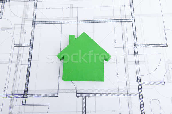 теплица модель план бизнеса дома Сток-фото © AndreyPopov
