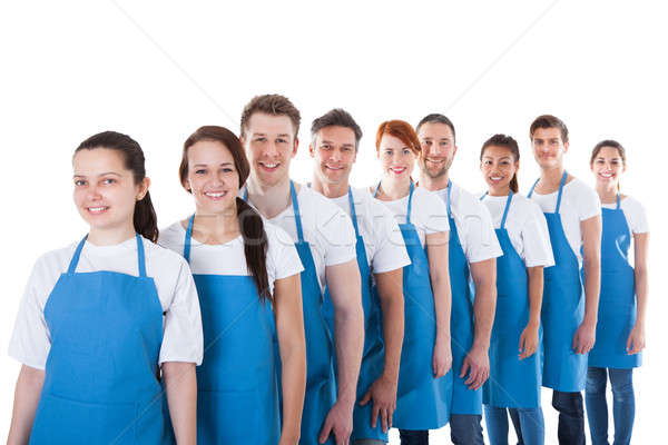 Large group of cleaners standing in a line Stock photo © AndreyPopov