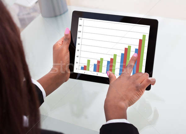 Businesswoman Analyzing Comparison Graph Stock photo © AndreyPopov