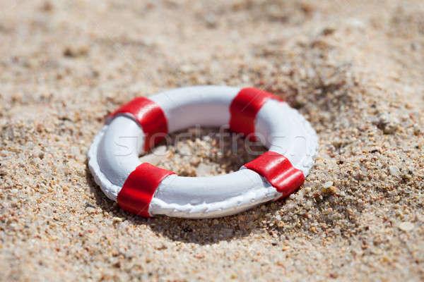 Miniatura piasku Fotografia plaży lata podróży Zdjęcia stock © AndreyPopov