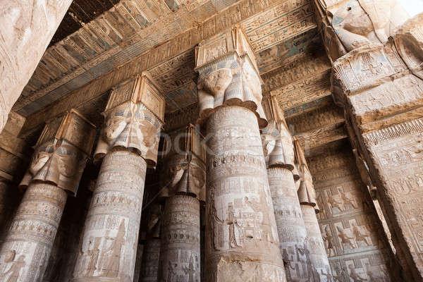 Dendera Temple In Egypt Stock photo © AndreyPopov