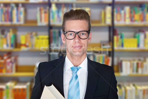 профессор Постоянный колледжей библиотека портрет мужчины Сток-фото © AndreyPopov