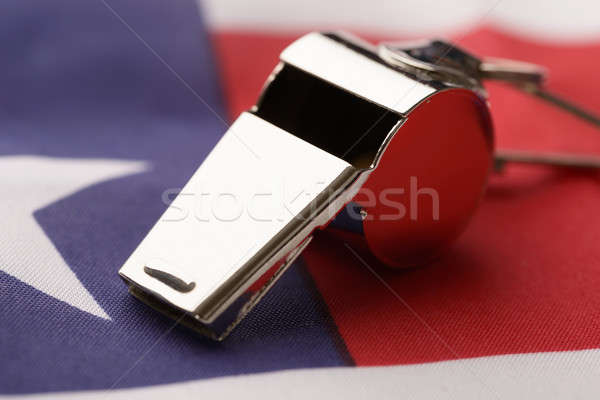 Whistle On American Flag Stock photo © AndreyPopov