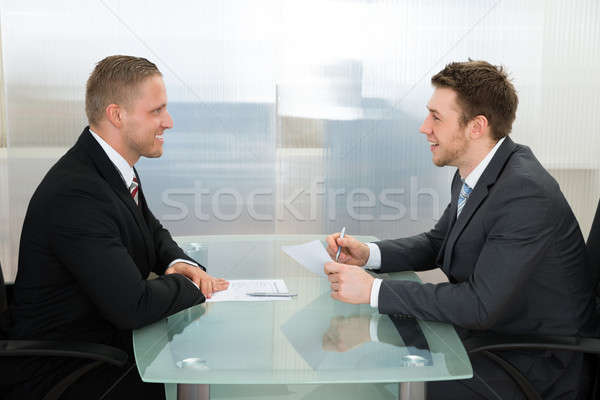 Businessman Conducting An Employment Interview Stock photo © AndreyPopov