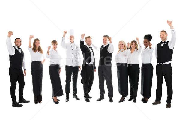 портрет счастливым ресторан сотрудников успех Сток-фото © AndreyPopov