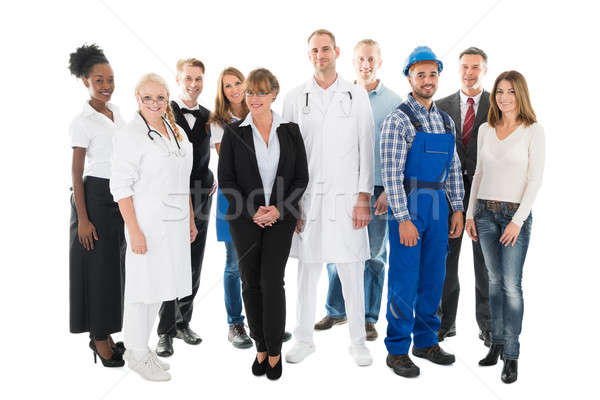 Group Portrait Of Confident People With Various Occupations Stock photo © AndreyPopov