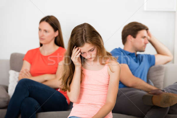 Girl Upset With Her Parent's Argument Stock photo © AndreyPopov