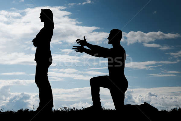 Man Trying To Convince Her Girlfriend Stock photo © AndreyPopov