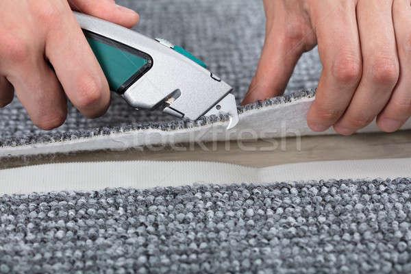 Carpenter Shaping Carpet Stock photo © AndreyPopov