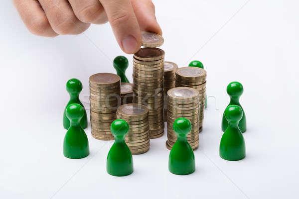 Işadamı sikke yeşil para Stok fotoğraf © AndreyPopov