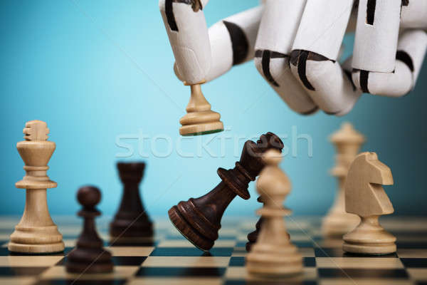 Robot Playing Chess Stock photo © AndreyPopov