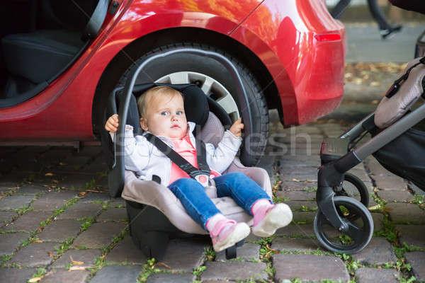 Cute мало ребенка сидят автомобилей сиденье Сток-фото © AndreyPopov