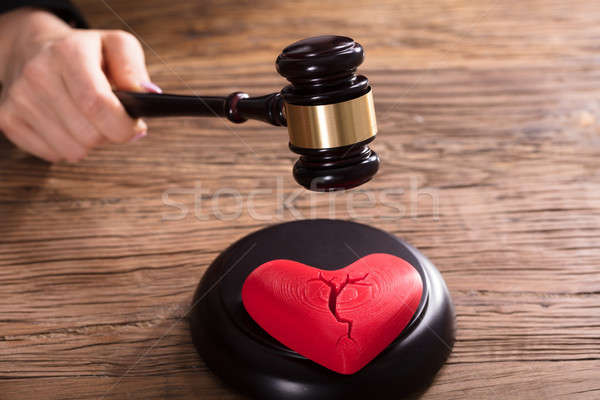 Close-up Of A Broken Red Heart Stock photo © AndreyPopov