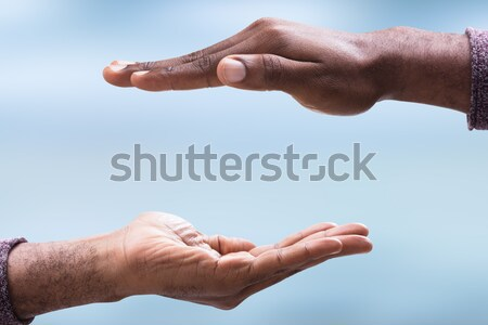 Close-up Of Male's Two Hand Stock photo © AndreyPopov