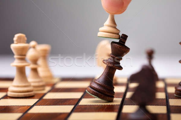 Pawn Defeating King Piece Stock photo © AndreyPopov