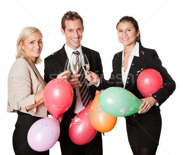 Zespół firmy sukces odizolowany biały kobieta biuro Zdjęcia stock © AndreyPopov